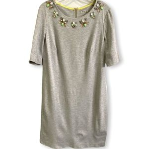 ELIZA J for Nordstrom French Terry Bejeweled Dress